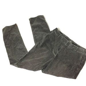 J.Jill Women's Size 10 Stretch Jeans Gray Corduroy